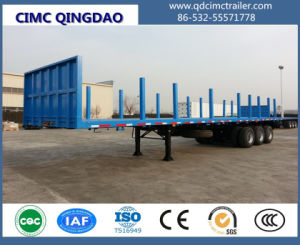 Cimc 3 Axles Cargo Transport Versatile Trailer / Flatbed Container Truck Trailer Chassis pictures & photos