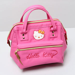 Cute Cat Pattern Pink Canvas Leisure Bag (A0114-3)