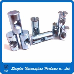 M3/M4/M5/M6/M8/M10 Stainless Steel Slotted Cross Dowel Barrel Nut with Hole pictures & photos