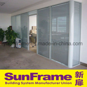 Aluminium Partition Wall with Blinds pictures & photos