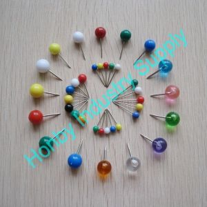 Wholesales Various Plastic Colorful Round Head Office Map Pin pictures & photos