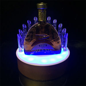 LED Illuminated Acrylic Wine Bottle Rack Display Stand for Bar pictures & photos