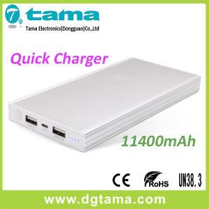 QC2.0 Quick Charger 11400mAh Portable Powerbank and Aluminium Alloy Case