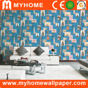 2017 Guangzhou Home Decoration PVC Waterproof 3D Wallpaper with High Quality pictures & photos