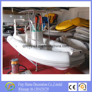 Rigid Boat 5.8m Inflatable Fibreglass Fishing Yacht pictures & photos