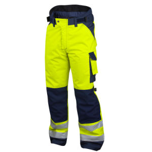 High Visibility Men Reflective Safety Work Pants Cargo Pants pictures & photos