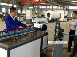 PE Soft Spiral Cable Protective Casing Production Line pictures & photos