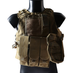 Airsoft Military Molle Combat Vest Nylon Tactical Vest Tan pictures & photos