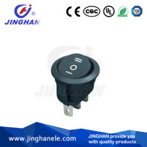 High Quality Single Pole 3 Way 3 Position Round Rocker Switch pictures & photos