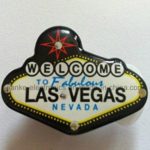 Las Vegas Custom LED Flashing Badges with Logo Printed (3161) pictures & photos