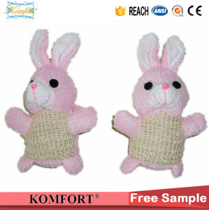 Natural Sisal Rabbit Animal Bath Puff Shower Ball Sponge Toy pictures & photos