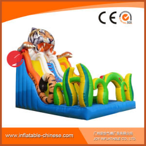 High Quality 0.55mm PVC Tarapulin Inflatable Tiger Dry Slide (T4-107) pictures & photos