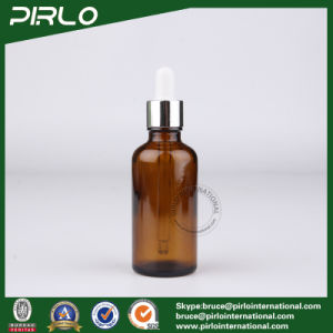 50ml Amber Glass Essential Oil Bottles with Silver Metal Dropper pictures & photos