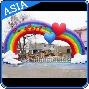 Cheap Inflatable Customized Arch for Wedding Decoration, 4.5m Colorful Tarpaulin Inflatable Wedding Arch for Wedding Customized pictures & photos