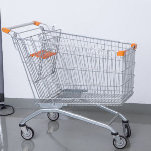 Supermarket Metal Cart Shop Steel Trolley pictures & photos