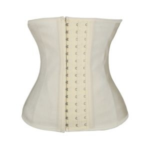Women′s 9 Steel Bone Latex Waist Cincher Corset with 3 Hooks pictures & photos