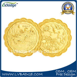 Customized Gold Metal Coins with Diamond Edges pictures & photos