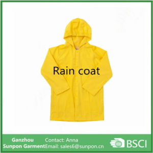 High Quality Yellow Color Raincoat for Childrens pictures & photos