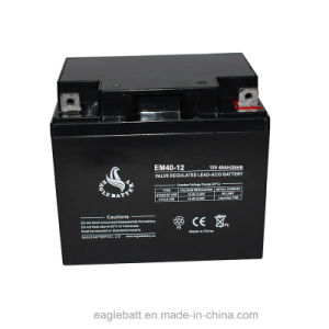 12V 40ah AGM VRLA Rechargeable Lead Acid Mf Battery