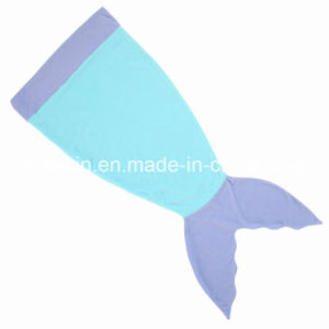 Fleece Fabric Warm Kids Thermal Mermaid Tail Blanket pictures & photos