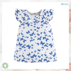 Oeko Standard Baby Apparel Printing Color Ruffle Baby Dress pictures & photos