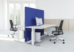 Enterprise Adjustable Office Sit-Stand Computer Desk with Fabric Partition (SZ-WS696) pictures & photos