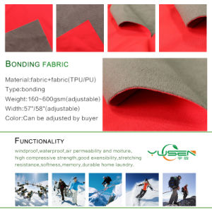 Waterproof 100%Poly Fleece Bonded Jersey Fabric pictures & photos