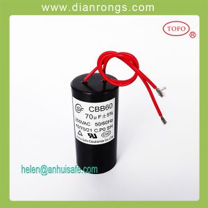 Screw Terminal Cbb60 Capacitor Air Conditioners 250VAC pictures & photos