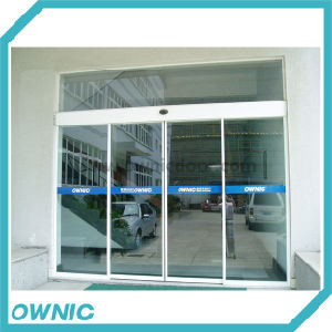 Alunm Alloy Automatic Sliding Glass Door, Double Open, for Office Building pictures & photos