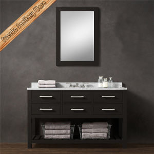 Fed-1990 55′′ Solid Wood Bath Cabinet Wooden Bath Vanity pictures & photos
