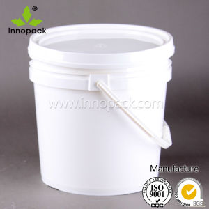 13L Plastic Bucket with Lid, Steel Handle, Plastic Pail pictures & photos