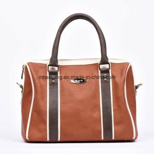 Elegant PU Tote Bag Shoulder Bag with Metal Logo on Front pictures & photos