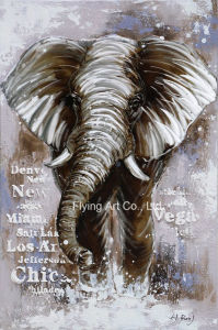 Elephant Animal Aluminum Base Abstract Oil Painting pictures & photos