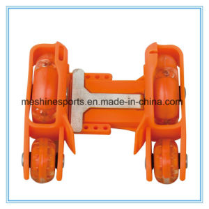 Adjustable Four-Wheel PVC LED Wheel Flashing Roller Skates pictures & photos