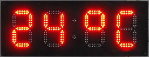 10 Inches Outdoor LED Clock Time Date Temperature Sign Red 10 Inch 4digit Large Express Sign pictures & photos