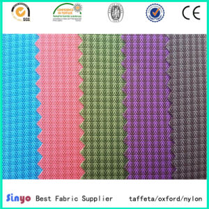 Polyurethane Coated 100% Polyester Line Designs Jacquard Cationic Fabric pictures & photos