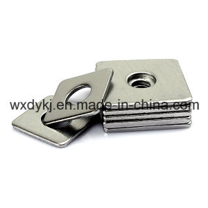Stainless Steel 304 316 Slotted Flat Square Washers pictures & photos