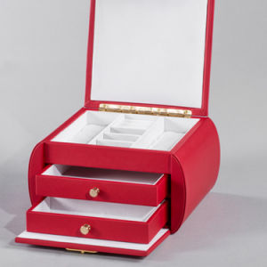 Eco Friendly 2 Layer Red Cosmetic and Jewelry Box pictures & photos