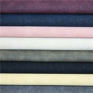 Fashion Frosted PU Synthetic Leather Fabric for Fashion Shoes pictures & photos