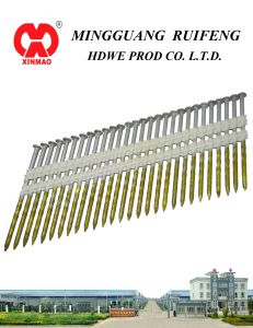 "21 Degree, 2"" X. 113"" Framing Nails, Ring Shank Bright Plastic Strip Nails pictures & photos"