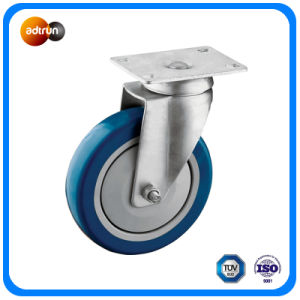 Medium Duty Blue PU Casters pictures & photos