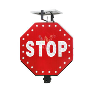 Aluminum LED Stop Sign with Pole Solar Traffic Sign pictures & photos