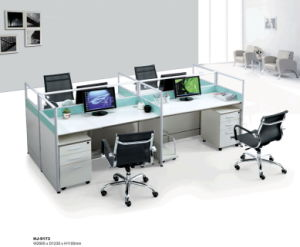 Steel Tube Braced Frame 4 Person Morden Office Desks / Partition pictures & photos