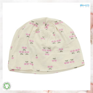 Custom Size Baby Accessories Cherry Printing Baby Cap pictures & photos