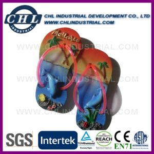 Slippers Shape 3D Customized Souvenir Fridge Magnet for Gift pictures & photos