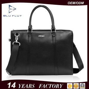 Bag Factory Custom Logo Leather Briefcase Business Travel Shoulder Bag pictures & photos