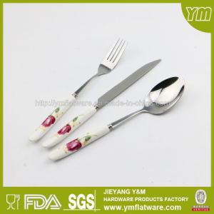 Ceramic Handle Stainless Steel Cutlery pictures & photos
