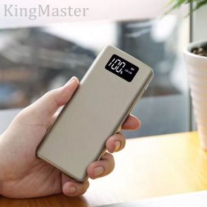 Metal Leather Double USB Port 11000mAh Power Bank with LED Digital Display pictures & photos
