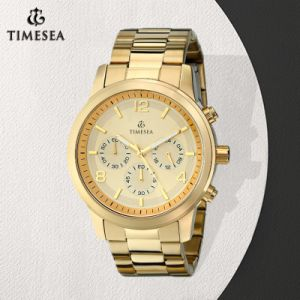 Men′s Gold-Tone Three Eyes Chronograph Watch 72572 pictures & photos