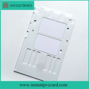 White Inkjet PVC Card Tray for Epson A50 Printer pictures & photos